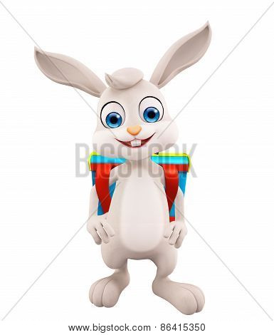 Easter Bunny With School Bag