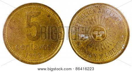 Old Argentine Coin