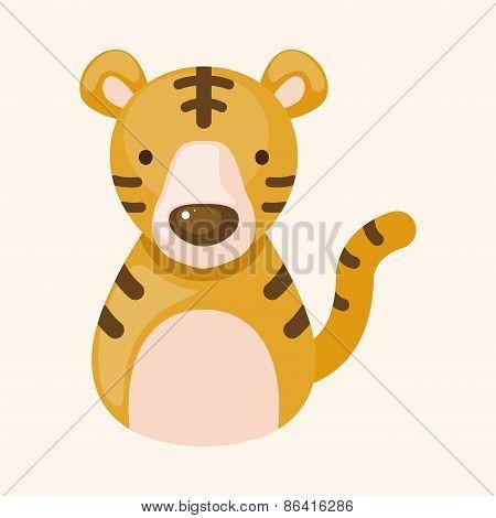 Chinese Zodiac Tiger Theme Elements