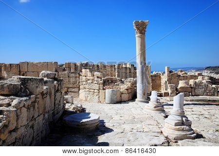 Roman Columns Paphos Cyprus