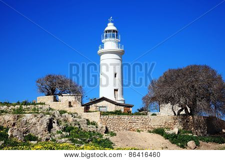 Paphos lighthouse Cyprus
