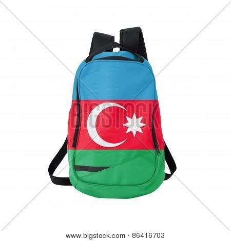Azerbaijan Flag Backpack Isolated On White