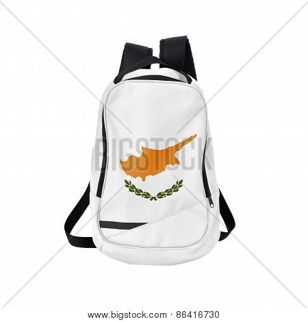 Cyprus Flag Backpack Isolated On White