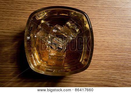 Overhead Shot Of Whiskey