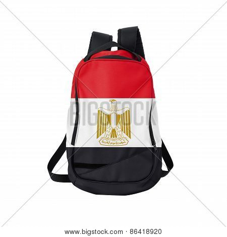 Egypt Flag Backpack Isolated On White