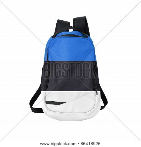 Estonia Flag Backpack Isolated On White