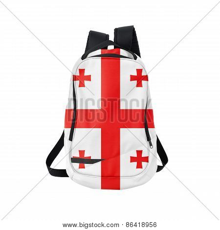 Georgia Flag Backpack Isolated On White