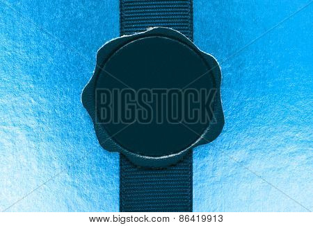 Leather Seal On Ribbon