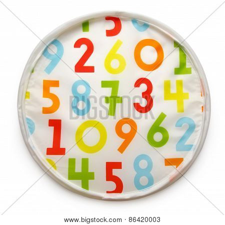 Colorful Background With Random Numbers