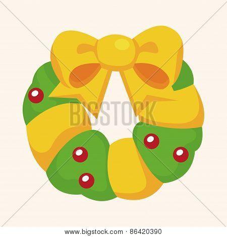 Christmas Holly Wreath Theme Elements