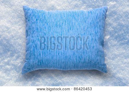 Soft Blank Blue Pillow