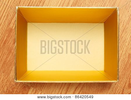 Empty Open Square Box