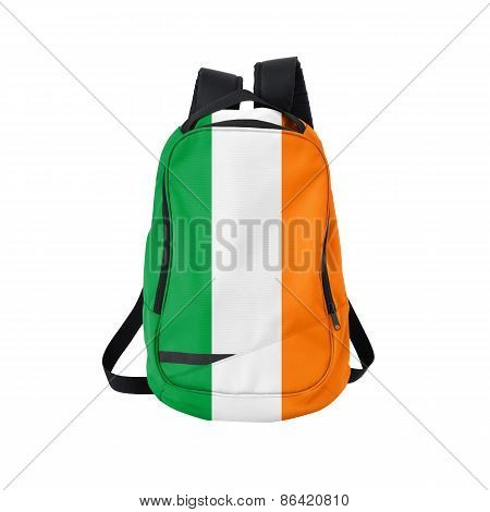 Ireland Flag Backpack Isolated On White