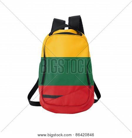 Lithuania Flag Backpack Isolated On White