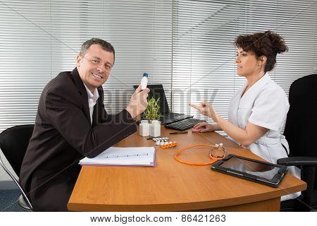 Man Pharmaceutical Sales Representative