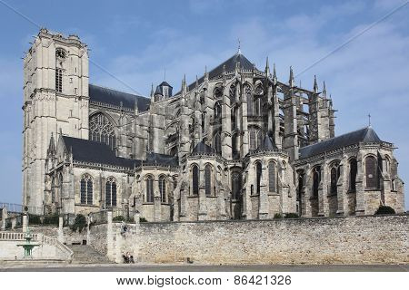 Cathedral Saint Julien in Le Mans, France.