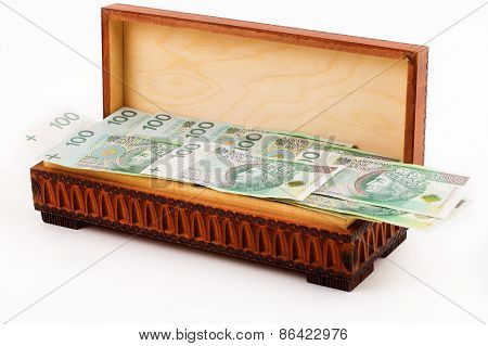 Box full of Polish money