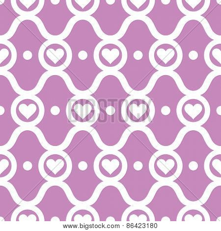 abstract seamless ornament pattern with hearts vector illustration
