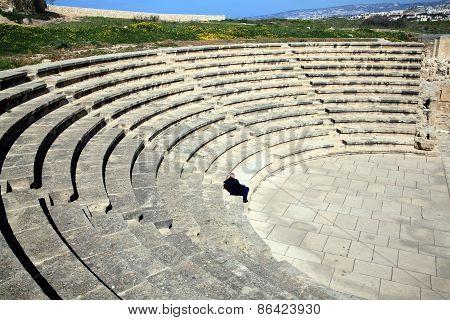 Roman amphitheatre Paphos, Cyprus