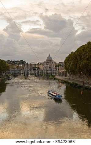 River Tiber At Dusk