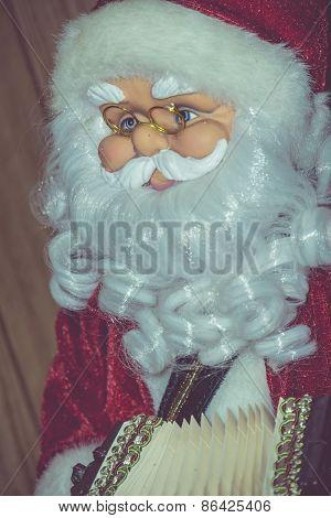 Retro Santa Toy With Accordion