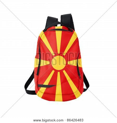 Macedonia Flag Backpack Isolated On White