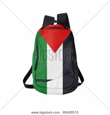 Palestina Flag Backpack Isolated On White