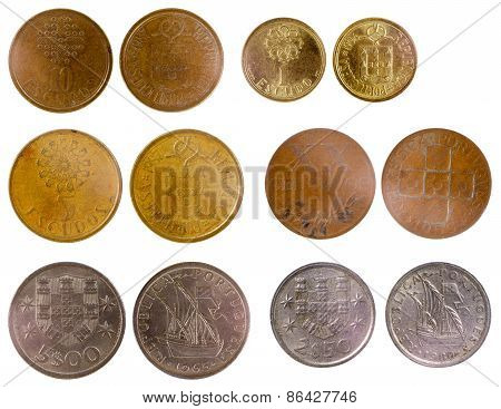 Different Old Portuguese Coins