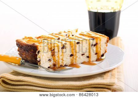 Slices Of Chocolate Chip Cheesecake