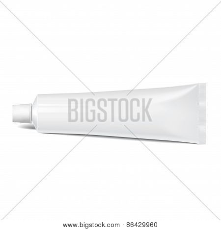 Realistic tube. For cosmetics, cream, tooth paste