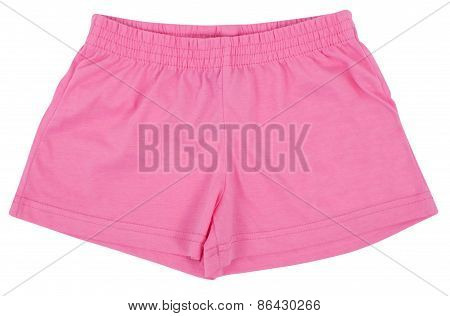Shorts Woman Sport. Isolated On White Background
