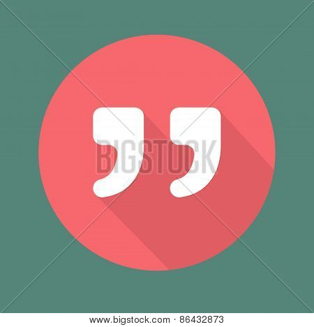 Quote vector icon isolated on colorful background.