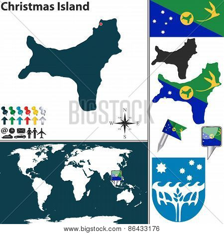Map Of Christmas Island