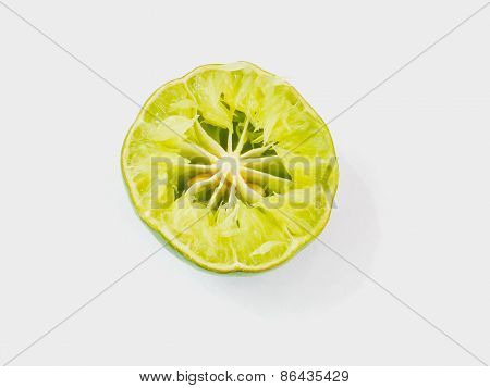 Sliced Lemon Squeezed With Seeds