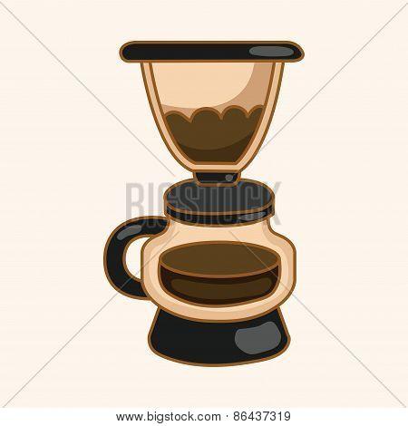 Coffee Machine Theme Elements