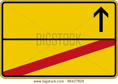 Road sign without text