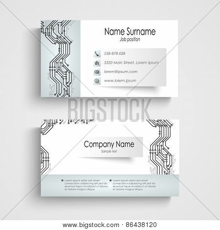 Modern Business Card With Printed Circuit Board