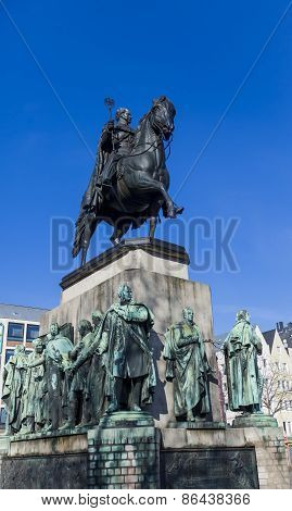 Friedrich Wilhelm Iii Monument In Cologne Germany