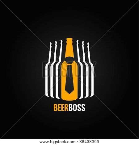 beer bottle boss concept design background