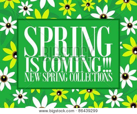 Spring is coming card