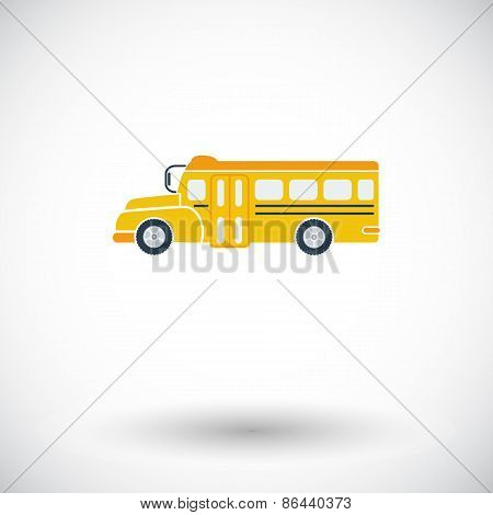 School bus flat icon.