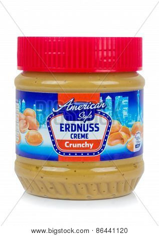 A jar of American Style German Erdnuss Creme