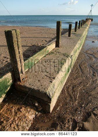 Beach Groin Seascape