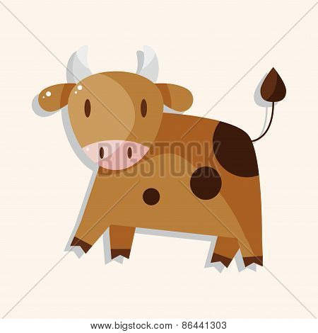 Animal Rattle Cartoon Theme Elements