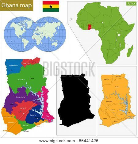 Administrative division of the Republic of Ghana