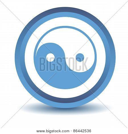 Blue Yin Yang icon