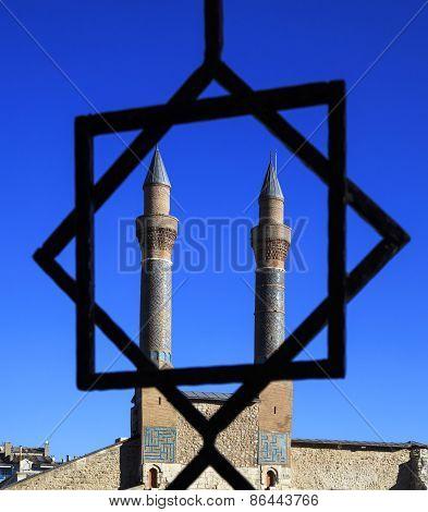 Cifte Minaret Madrasa - Double Minaret In Sivas