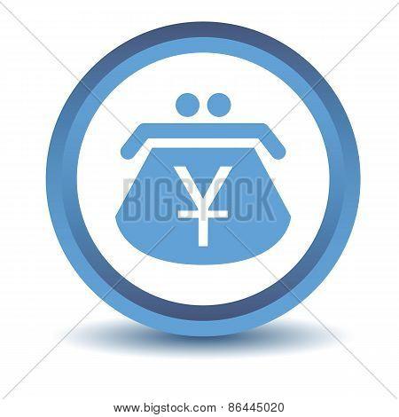 Blue Yen purse icon