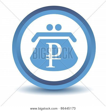 Blue rouble purse icon