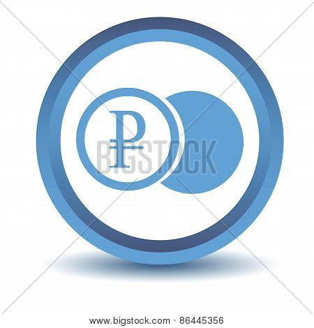 Blue rouble coin icon